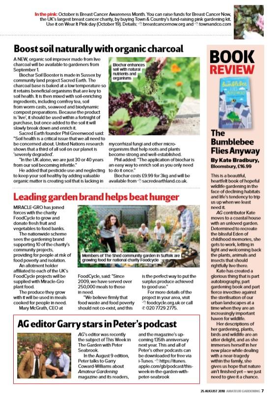 Coverage in Amateur Gardening magazine