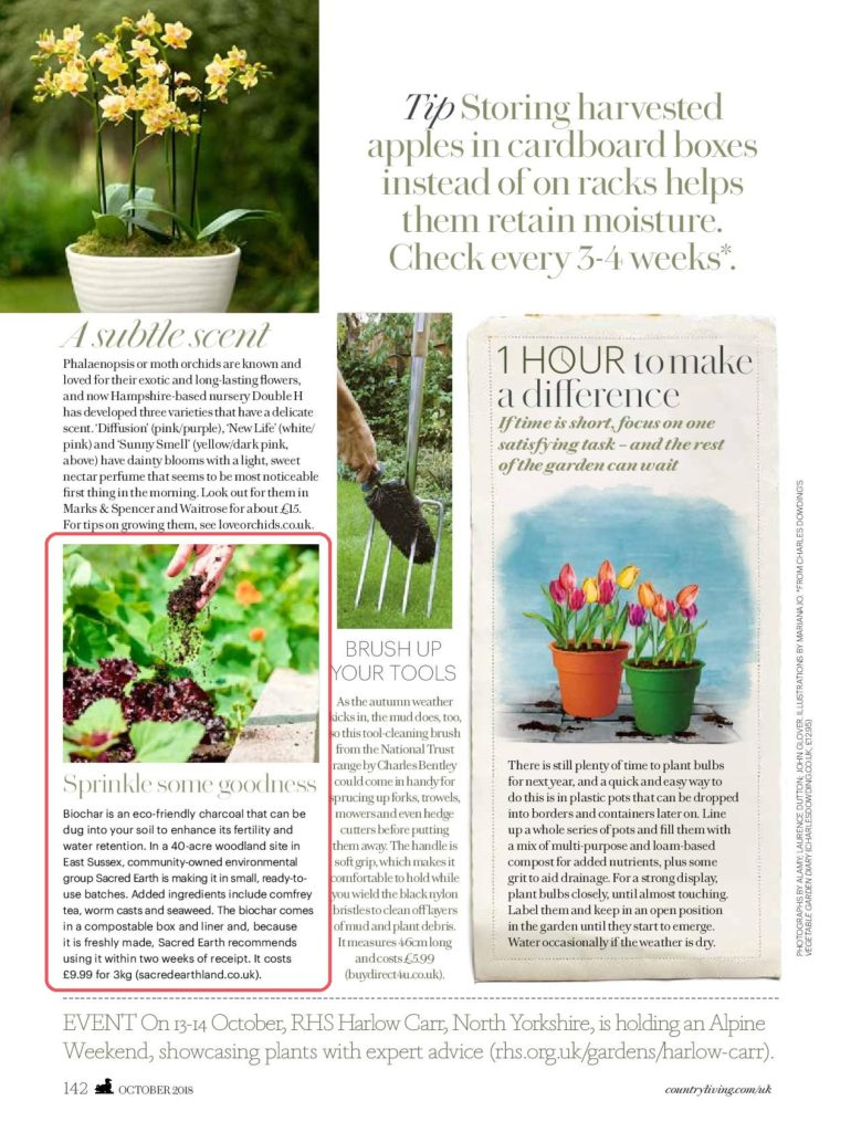 Coverage in Country Living magazine