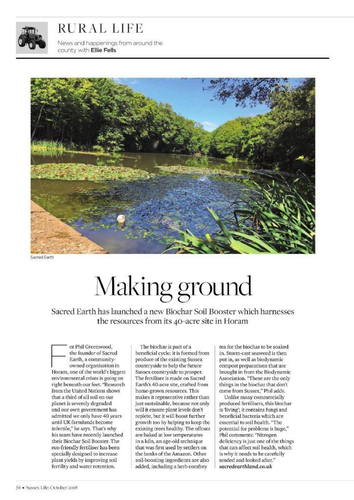 Coverage in Sussex Life magazine