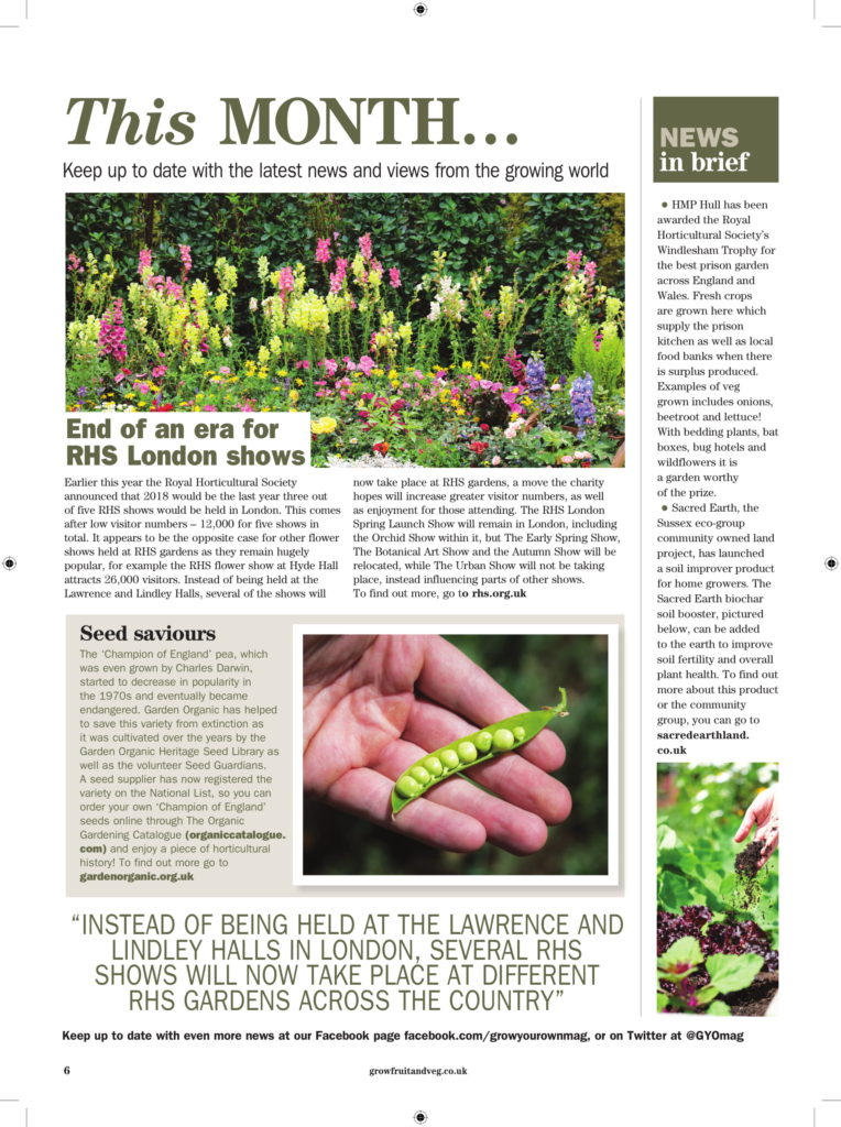 Coverage in Grow Your Own magazine