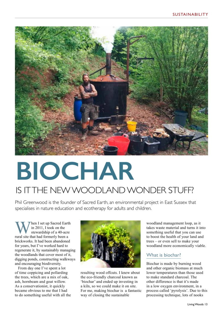 Coverage in Living Woods magazine
