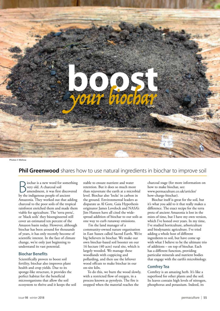 Coverage in Permaculture magazine
